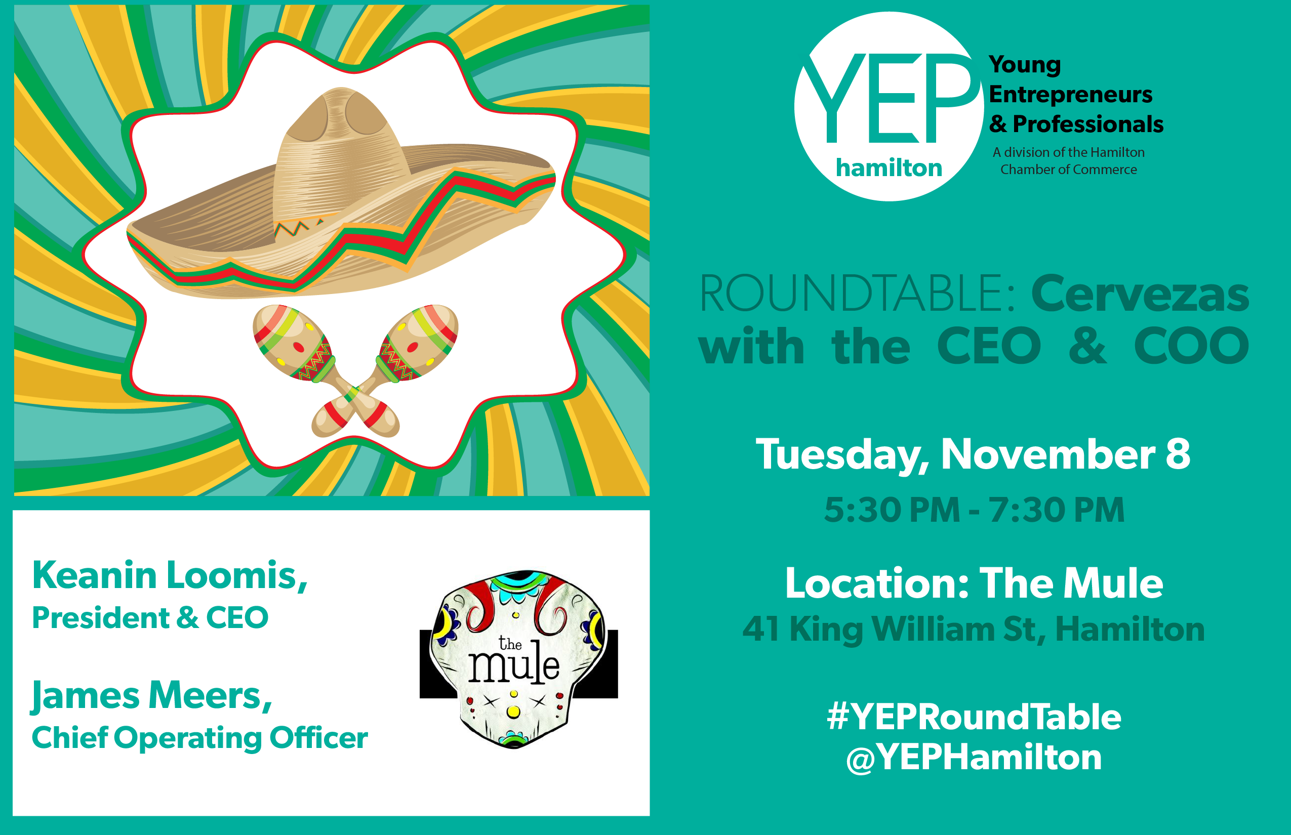 November YEP Roundtable 2016 Cervezas with the CEO and COO